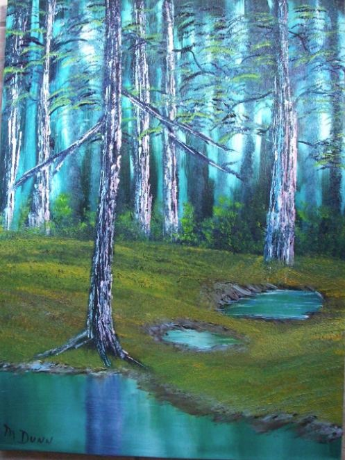 I Utilized A Black Canvas For This One Originally Had Planned To Be Hung With Bubbling Brook As Pair However Sold First